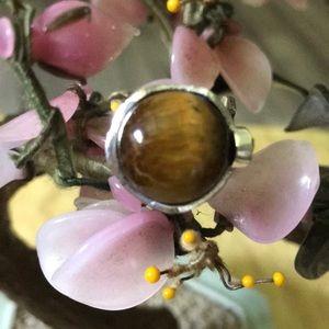 Vintage 925 tiger eye ring